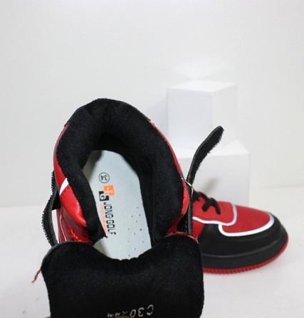 Черно-красные хайтопы для мальчиков на липучке Код: 111886 (C30244-13) Запоріжжя - зображення 5