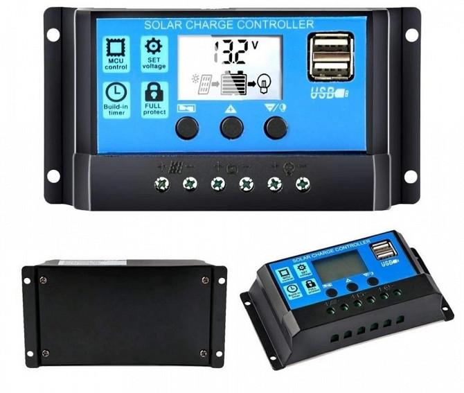 10A PWM (ШИМ) контроллер заряда аккумуляторов от солнечной панели 12/24В с ЖК-дисплеем, 2 USB Дніпро - зображення 1