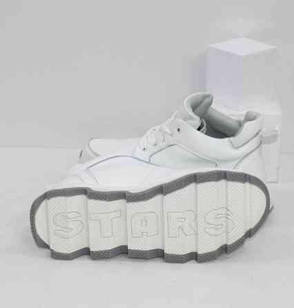 Кожаные ботинки на спортивной подошве Код: 111567 (350-1-white) Запоріжжя
