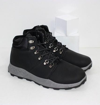 Осенние мужские ботинки на шнурках Код: 111798 (20-855-black) Запоріжжя - зображення 1