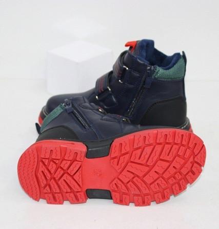 Осенние ботинки для мальчиков на двух липучках Код: 111903 (R5834-1) Запоріжжя - зображення 3