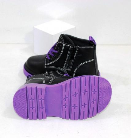 Ботинки осенние для девочек на молнии + шнурок Код: 111824 (C6217-1) Запоріжжя - зображення 2