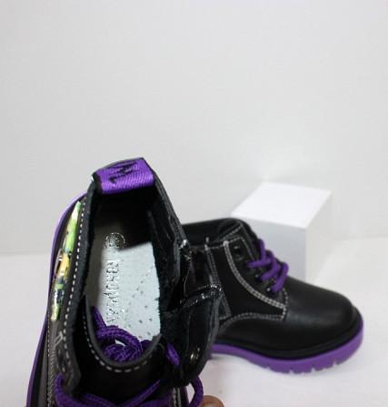 Ботинки осенние для девочек на молнии + шнурок Код: 111824 (C6217-1) Запоріжжя - зображення 6