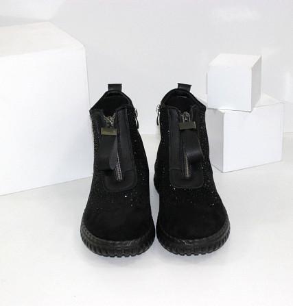 Женские ботинки в стразах Код: 107897 (BK232-1) Запоріжжя - зображення 4