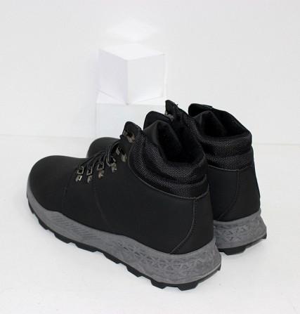 Осенние мужские ботинки на шнурках Код: 111798 (20-855-black) Запоріжжя - зображення 2
