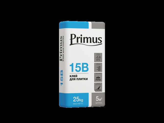 Клей для плитки Primus 15В 25кг Київ - зображення 1