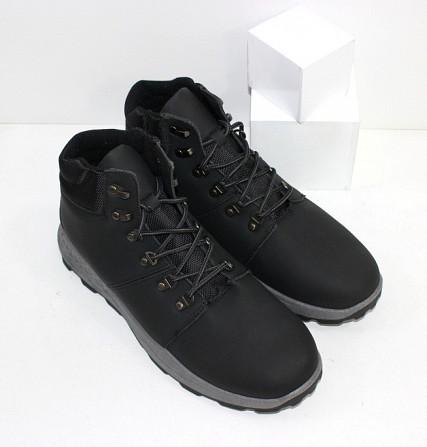 Осенние мужские ботинки на шнурках Код: 111798 (20-855-black) Запоріжжя - зображення 5