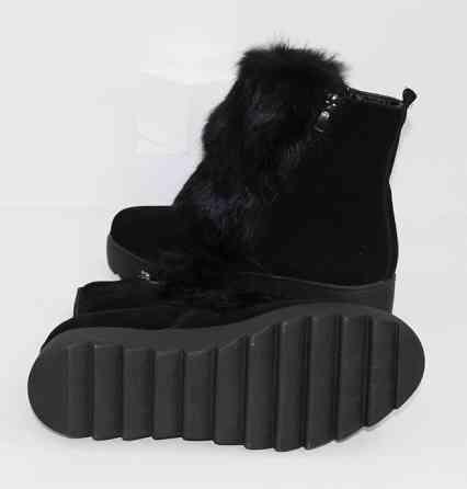 Замшевые ботинки с мехом Код: 111627 (TY2001) Запоріжжя