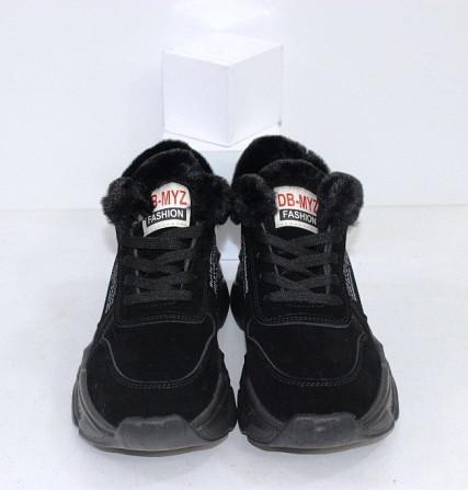 Черные зимние кроссовки с опушкой Код: 111847 (120-23) Запоріжжя - зображення 6