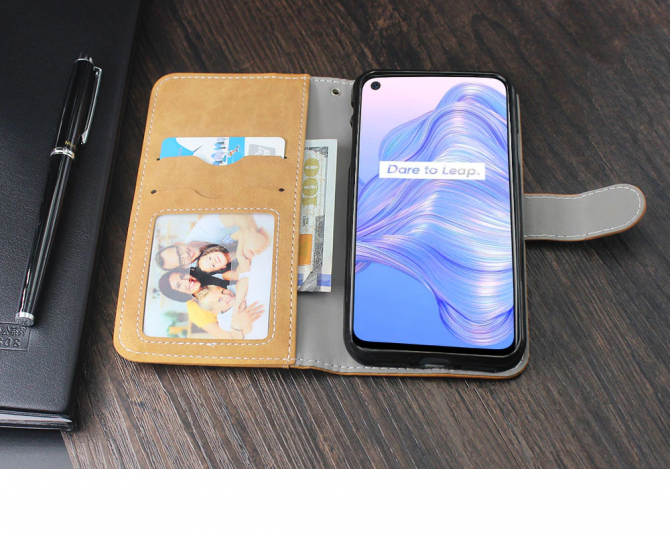 Кожаный чехол-книжка Umidigi F2, Realme 7 5G. Хмельницький - зображення 1