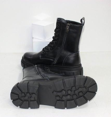 Кожаные черные ботинки на зиму Код: 111869 (TY1792-6) Запоріжжя - зображення 2