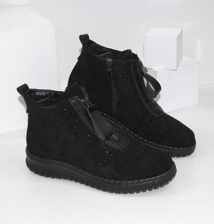 Женские ботинки в стразах Код: 107897 (BK232-1) Запоріжжя - зображення 1