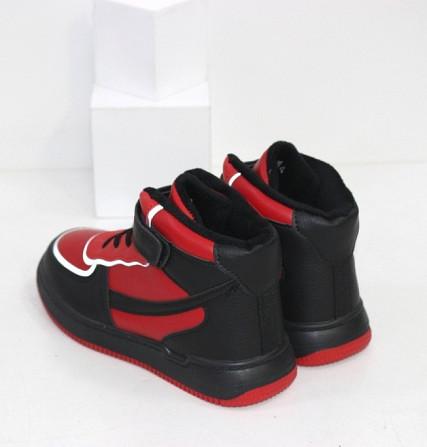 Черно-красные хайтопы для мальчиков на липучке Код: 111886 (C30244-13) Запоріжжя - зображення 2