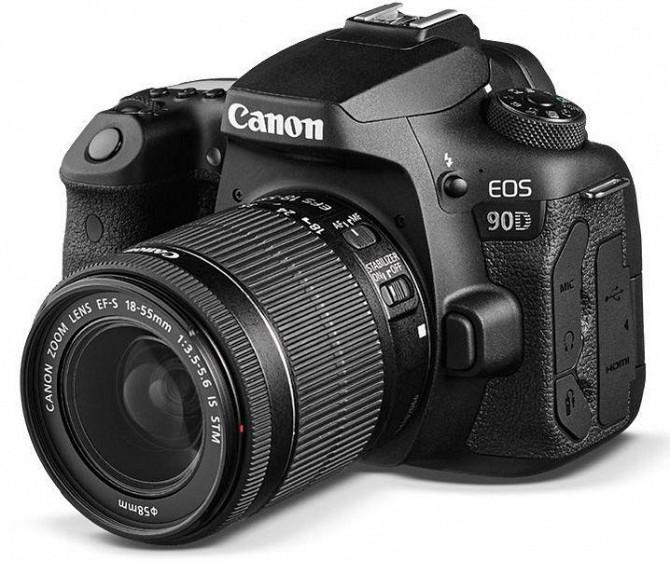 Дзеркальна камера Canon EOS 90D з об'єктивом 18-55 мм Одеса - зображення 1