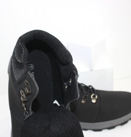 Осенние мужские ботинки на шнурках Код: 111798 (20-855-black) Запоріжжя - зображення 3