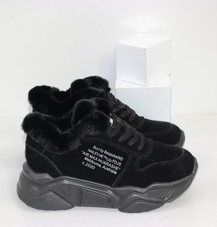 Черные зимние кроссовки с опушкой Код: 111847 (120-23) Запоріжжя - зображення 5