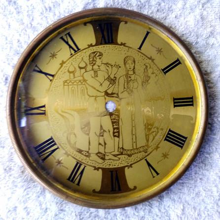 Стекло в рамке и циферблат к каминным часам Київ - зображення 1