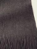 Теплый коричневый шарф с бахромой Дніпро
