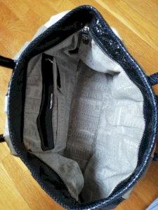Plavo-sivo-bijela torba