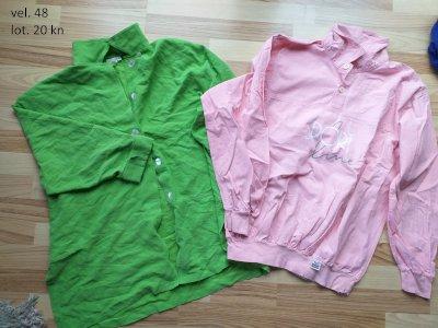 majice kratki i dugi rukavi te suknje veličina 48