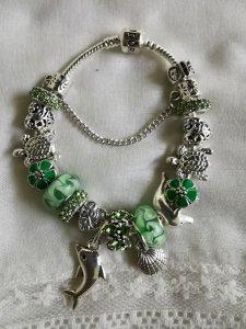 Pandora narukvica, zelena, dupin, nova!
