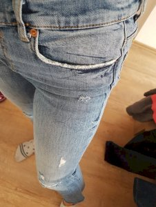 zara cropped jeans, traperice