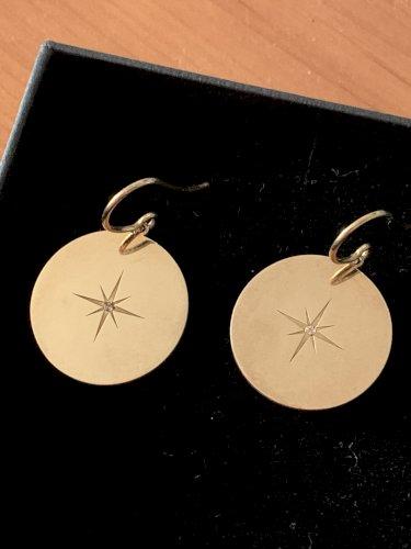 Borboleta North Star naušnice srebro s pozlatom