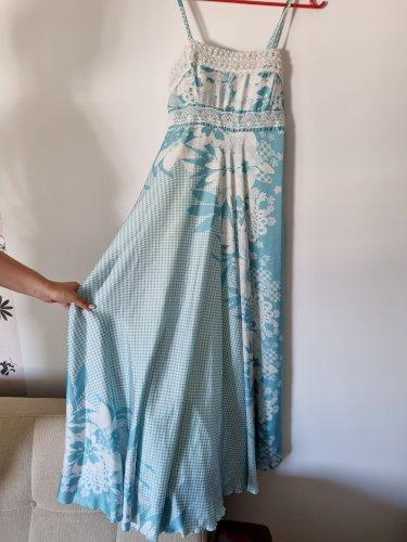 Bijeloplava duga haljina M  NOVO