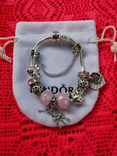 Pandora narukvica Disney srce nova