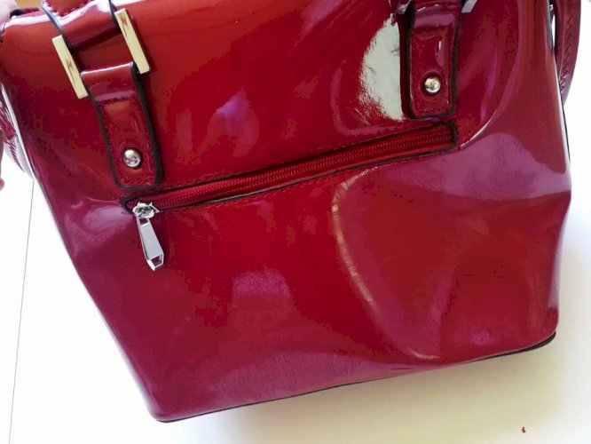 Pitarosso crvena lakirana torba