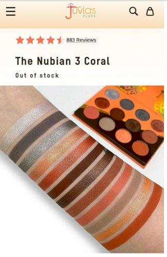 Juvias place The Nubian 3  Coral paleta