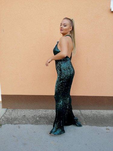 Svečana šljokičasta haljina