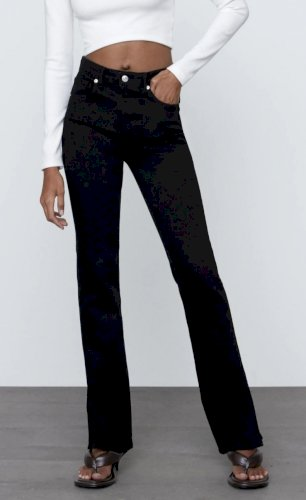 Zara high ankle Split Skinny traperice