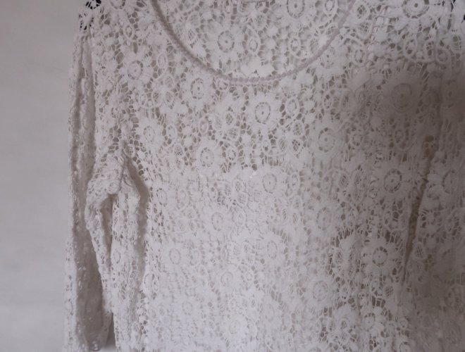 Nova čipkasta Mango haljina M