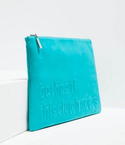 Zara tirkizna clutch torbica