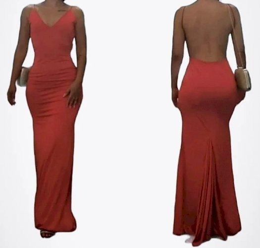 Predivna crvena haljina
