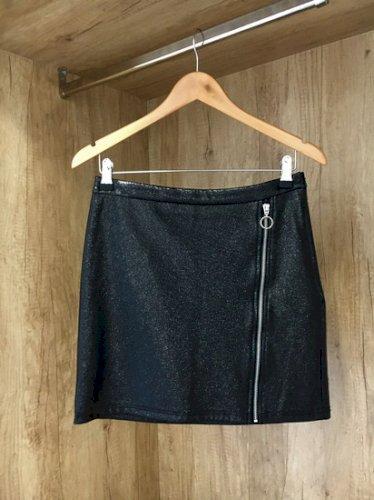 Bershka mini kožna suknja