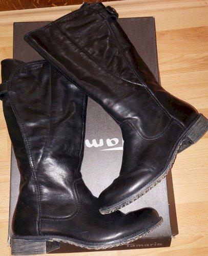 Tamaris kožne čizme