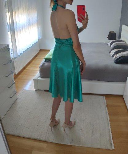 Zelena satenska haljina