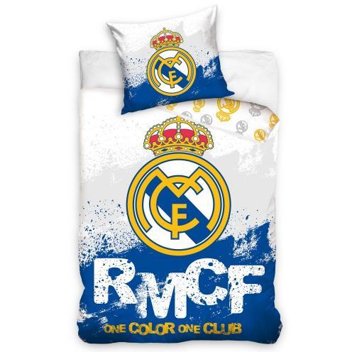 BedTex Bavlnené obliečky Real Madrid RMFC, 160 x 200 cm, 70 x 80 cm