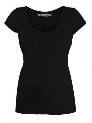 9112ad17cf76 Queen Mum Claudia čierne tehotenské tričko