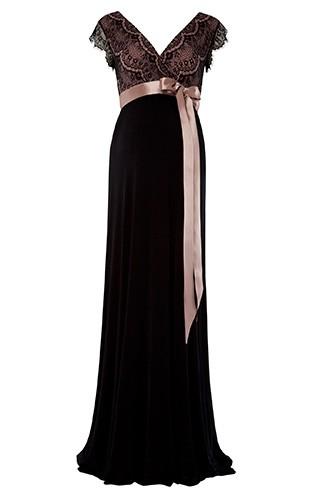 d6dd32b907 Tiffany Rose Rosa maxi šaty pre tehotné s čipkou