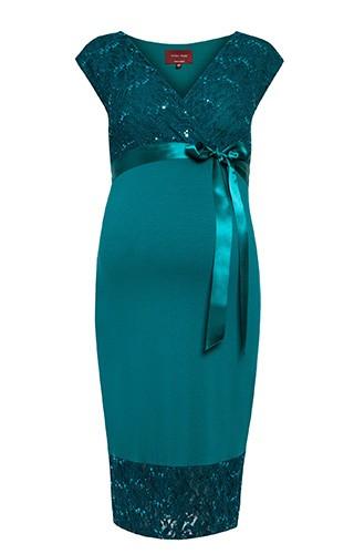 61ba5d571b Tiffany Rose Šaty pre tehotné spoločenské Twilight Emerald