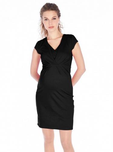 54e6088c598c Queen Mum Vil ly tehotenské šaty na kojenie čierne