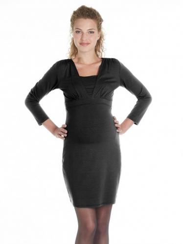5271842e4bd2 Queen Mum Laura tehotenské šaty na kojenie čierne