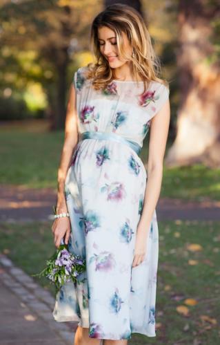 56f6c19bb4 Tiffany Rose Maya dusky floral šaty pre tehotné