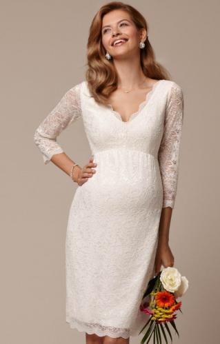 9cf95a969263 Tiffany Rose Chloe tehotenské svadobné šaty krátke