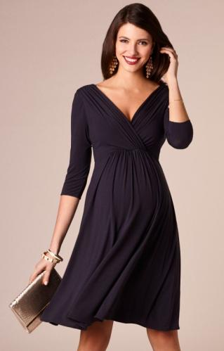 adaeafc4b2f7 Tiffany Rose Willow Cocoa noir tehotenské šaty