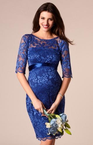 3c7f9b31c1 Tiffany Rose Windsor blue spoločenské šaty pre tehotné