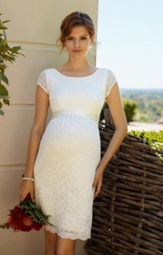 a567228c1f23 Tiffany Rose Emma svadobné šaty pre tehotné krátke
